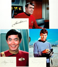 Autographs:Celebrities, [Star Trek] James Doohan, DeForest Kelley, and George TakeiAutographs. ... (Total: 3 Items)