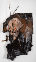Post-War & Contemporary:Contemporary, Valerie Hegarty (b. 1967). George Washington with Branches,2008. Canvas, paint, branches, glue and paper. 27 x 16 x 7 i...