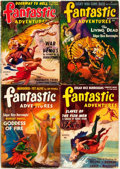Books:Pulps, [Pulps]. Edgar Rice Burroughs. Complete Series of Four BurroughsStories Later Published Under the Title Escape on Venus...(Total: 4 Items)