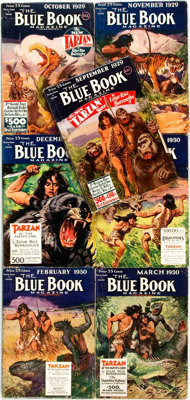 [Pulps]. Edgar Rice Burroughs. Complete Seven Part Serialization of the Burroughs Story Tarzan at the Earth's C
