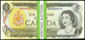 Canadian Currency: , BC-46a $1 1973 Low Two-Digit Serial Numbers Thirty-one Examples.... (Total: 31 notes)