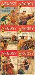 Books:Pulps, [Pulps]. Edgar Rice Burroughs. Complete Six Part Serialization ofthe Burroughs Story Pirates of Venus. Argosy... (Total: 6Items)