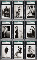 "Non-Sport Cards:Sets, 1939 Carreras ""Glamour Girls of Stage & Films"" (Large - EL36)SGC Graded Complete Set (36). ..."