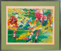Football Collectibles:Others, Circa 1970's Football Game Signed LeRoy Neiman Serigraph....