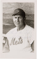 Baseball Collectibles:Others, Circa 1969 Gil Hodges Signed Postcard....
