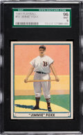 Baseball Cards:Singles (1940-1949), 1941 Play Ball Jimmie Foxx #13 SGC 96 Mint 9 - Pop Two, NoneHigher....