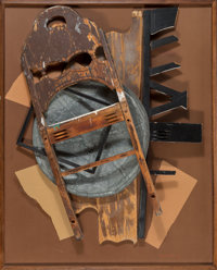 Louise Nevelson (1899-1988) Volcanic Magic XV, 1985 Wood, metal, and paper collage 41 x 33 x 5 in
