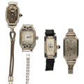 Timepieces:Wristwatch, Four 18k Gold Wristwatches For Parts Or Repair. ... (Total: 5Items)