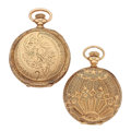 Timepieces:Other , Two 14k Gold Hunter's Cases No Movements. ... (Total: 2 Items)