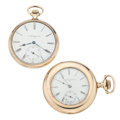 Timepieces:Pocket (post 1900), Two Elgin Gold Filled Open Face Pocket Watches. ... (Total: 2Items)