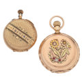 Timepieces:Pocket (post 1900), Waltham & Swiss 14k Gold Hunter Cases Pocket Watches. ... (Total: 2 Items)