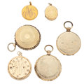 Timepieces:Other , Six Gold Lockets. ... (Total: 6 Items)