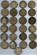 Brazil, Brazil: Empire Twenty-five Piece Lot of 960 Reis 1824, 1825, and1826,... (Total: 25 coins)
