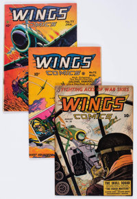 Wings Comics Group of 6 (Fiction House, 1943-51) Condition: Average VG.... (Total: 6 Comic Books)