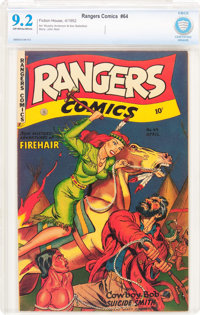 Rangers Comics #64 (Fiction House, 1952) CBCS NM- 9.2 Off-white to white pages