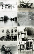 Books:Prints & Leaves, [Floods]. Collection of Fifty Photographs and Press Prints Relatingto Floods....