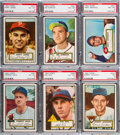 Baseball Cards:Lots, 1952 Topps Baseball PSA Graded Collection (6). ...