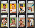 Baseball Cards:Lots, 1952 Topps Baseball SGC Graded Collection (13). ...