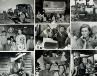 [Migrant Workers]. Collection of Sixty-Five Photographs and Press Prints Relating to Migrant Workers
