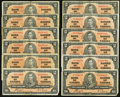 Canadian Currency: , $2 1937 Twenty-two Examples . ... (Total: 22 notes)