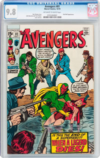 The Avengers #81 (Marvel, 1970) CGC NM/MT 9.8 Off-white to white pages