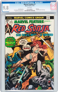 Marvel Feature #1 Red Sonja (Marvel, 1975) CGC NM/MT 9.8 White pages