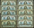 Canadian Currency: , $5 1937 Ten Examples . ... (Total: 10 notes)