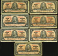 Canadian Currency: , $2 1937 Seven Examples . ... (Total: 7 notes)
