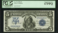 Large Size:Silver Certificates, Fr. 273 $5 1899 Silver Certificate PCGS Superb Gem New 67PPQ.. ...