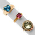 Estate Jewelry:Rings, Multi-Stone, Seed Pearl, Gold Rings. ... (Total: 3 Items)