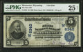 National Bank Notes:Wyoming, Meeteetse, WY - $5 1902 Plain Back Fr. 598 The First NB Ch. #(W)6340. ...