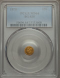 California Fractional Gold : , 1870 25C Liberty Round 25 Cents, BG-835, R.3, MS64 PCGS. PCGSPopulation (9/0). NGC Census: (1/1). ...