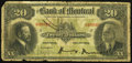 Canadian Currency: , Montreal, PQ- The Bank of Montreal $20 Nov. 3, 1914 Ch. #505-54-10. ...