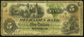 Canadian Currency: , Montreal, CE- The Mechanics Bank $5 June 1, 1872 Ch. # 430-10-08a....