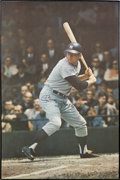 Baseball Collectibles:Others, 1968 Mickey Mantle Signed Poster by Photographer Malcolm Emmons....