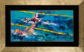 Miscellaneous Collectibles:General, 1976 Olympic Swimming Original Painting by LeRoy Neiman....