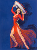 Mainstream Illustration, Billy De Vorss (American, 1908-1985). Flamenco Dancer.Pastel on board. 34 x 25 in. (sight). Signed lower left. ...
