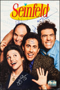 """Movie Posters:Comedy, Seinfeld (Columbia/Tristar, 1996). Autographed Television Poster (24"""" X 36""""). Comedy.. ..."""