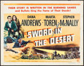 "Movie Posters:War, Sword in the Desert & Other Lot (Universal International,1949). Half Sheets (2) (22"" X 28""). War.. ... (Total: 2 Items)"