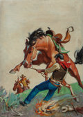 Paintings, George Rozen (American, 1895-1973). Branded, Frontier Stories pulp magazine cover, February 1930. Oil on canvas. 31 x 22...