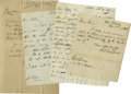 Autographs:Statesmen, Americana Document Collection consisting of more than 50 documents,receipts, and letters with a wide range of dates (1600s ... (Total:50 )