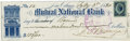 """Autographs:Military Figures, General P. Gustave Toutant Beauregard Document Signed """"G.T. Beauregard."""" Signed check, 8.25"""" x 2.5"""", Mutual National Ban..."""