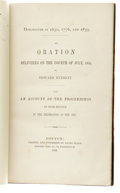Books:Signed Editions, Edward Everett Signed Book: Dorchester in 1630, 1776, and1855. An Oration Delivered on the Fourth of July, 1865,Ma... (Total: 3 items)