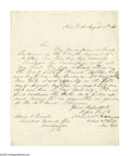 Autographs:Military Figures, Rufus King Jr. Autograph Letter Collection. Four letters, of varying sizes, written and signed by Rufus King. Two are on W... (Total: 4 items)