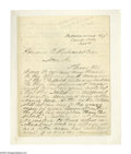 "Autographs:Military Figures, Brig. General Frederick W. Lander Autograph Letter Signed ""Fred W. Lander."" Two pages, 7.5"" x 9.8"", Camp Kelly, Patt..."