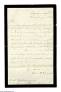 Autographs:Statesmen, William Seward: June 1865 Invitation to Laying of Corner Stone ofthe Soldiers' National Monument at Gettysburg. Letter Sign...