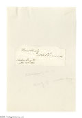 """Autographs:Military Figures, Collection of Henry W. Slocum Letters Comprises: (1) Six ALsS:""""H W Slocum:, three 1p, two 2p, one 3p, 5"""" x 8"""" to 5"""" x ...(Total: 11 items)"""