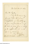 """Autographs:Military Figures, Daniel E. Sickles Autograph Letter Collection. This lot features 3 letters measuring 4.5"""" x 7"""", and one letter measuring 5... (Total: 4 )"""