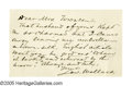 Autographs:Authors, Lew Wallace: Two Autograph Letters A twofer, for your collection of authors, Civil War generals, politicians and diplomats: ...