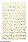 Military & Patriotic:Civil War, Union Soldier's 1864 Superlative Account of the Carnage at Cold Harbor Autograph Letter Signed in the hand of Private Will...